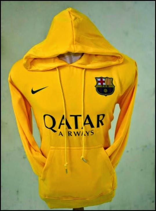 Jumper Hoodie Bola Polos (Satu Warna) - Barcelona Kuning
