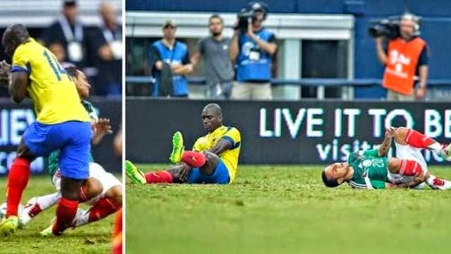 اصطدام مروع بين مونتيس و كاستيللو يحرمهما من كأس العالم