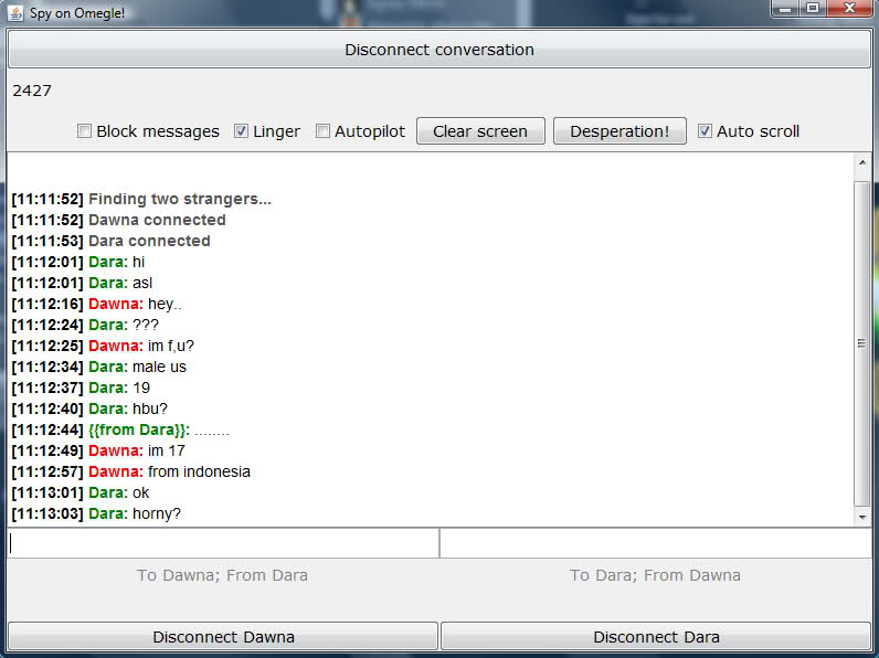 omegle spy live chat room
