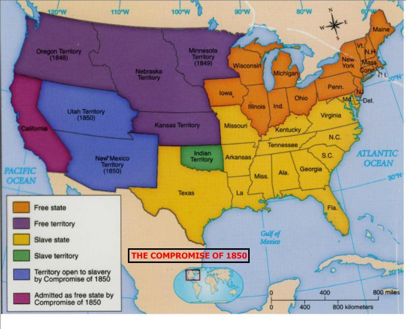 missouri compromise and compromise of 1850 In an effort to preserve the balance of power in congress between slave and free  states, the missouri compromise was passed in 1820 admitting missouri as a.