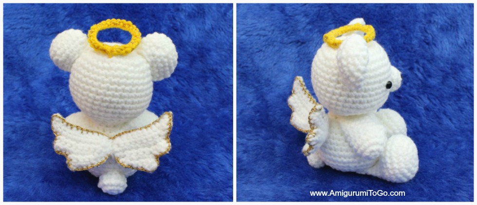 Amigurumi Angel Wings With Halo ~ Amigurumi To Go