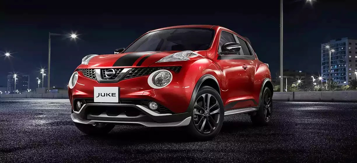 NISSAN JUKE RX REVOLT RED BLACK STRIPPING