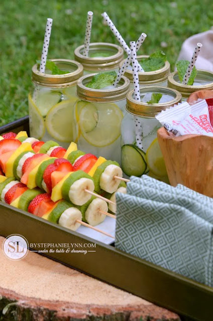 picnic style fruit kabobs