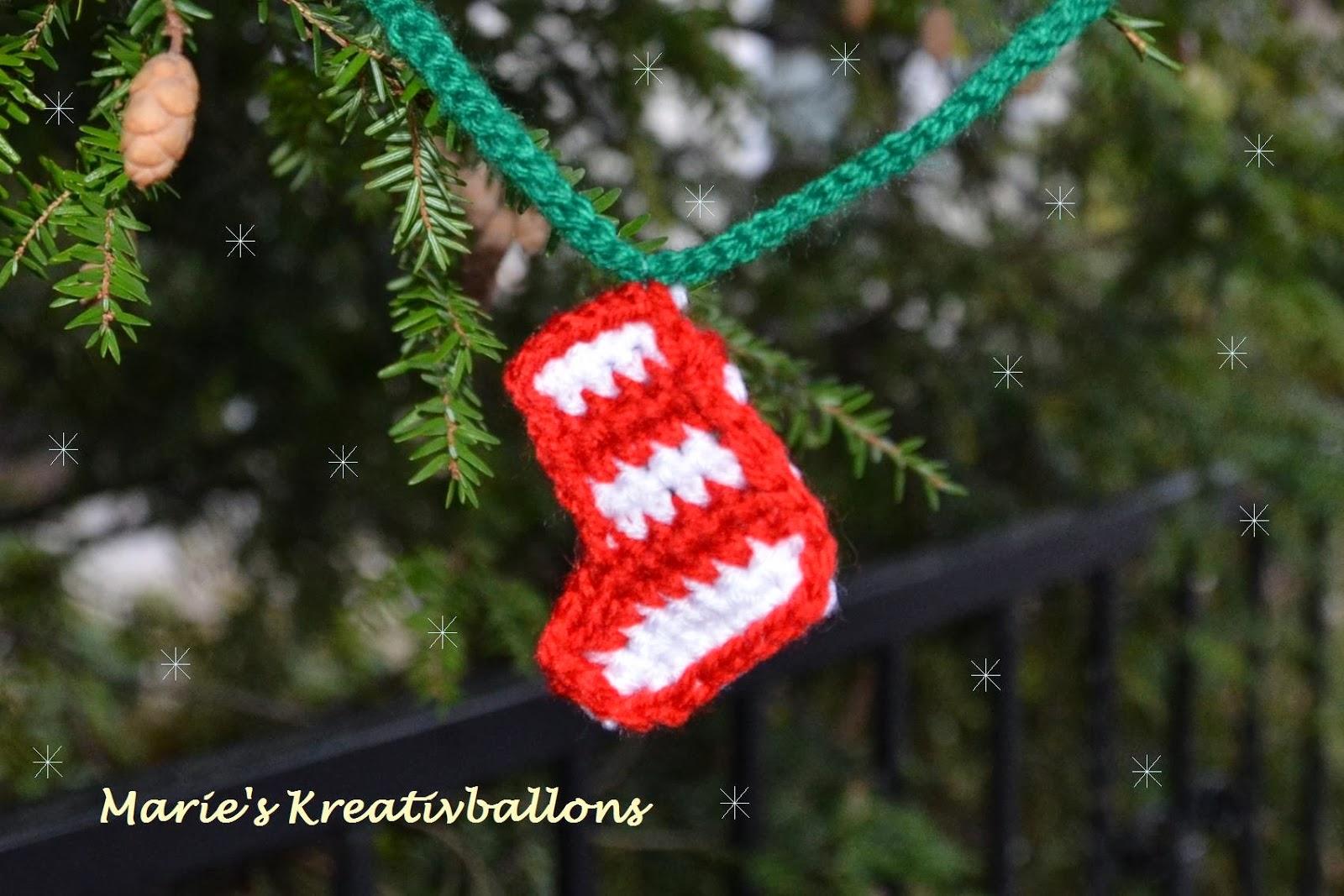 Ideen für Weihnachten: 3. Christbaumschmuck häkeln