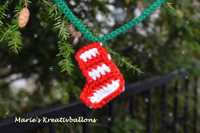 Weihnachtsstiefel Häkelanleitung
