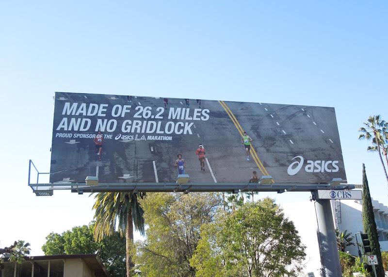 Asics Made of 26 miles no gridlock billboard