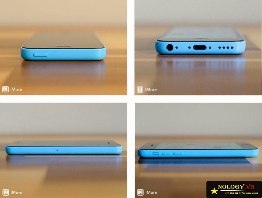 Thiết kế cạnh trên, dưới, trái, phải của iPhone 5C