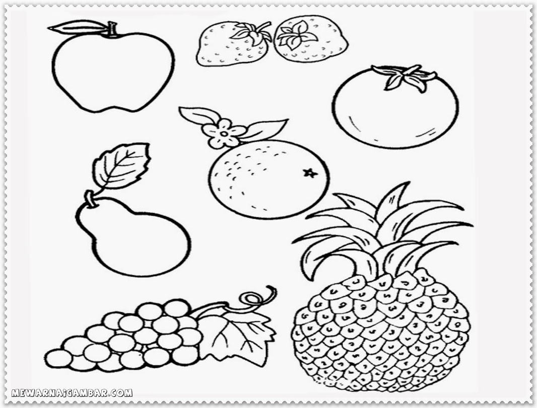 simple fruit coloring pages - photo#38