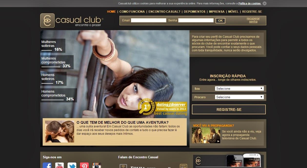casual club gratuito gratis site online paquera relacionamento namoro encontro