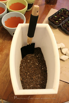 Perlite and potting soil mixture
