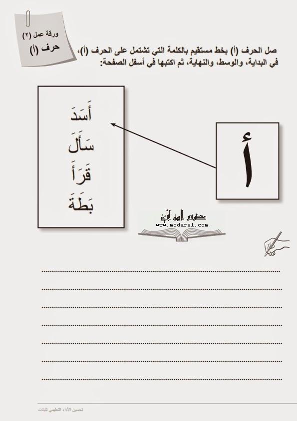 اوراق عمل (124 ورقة) لتنمية واتقان مهارات القراءة و الكتابة للصف الاول الابتدائى  - صفحة 2 1