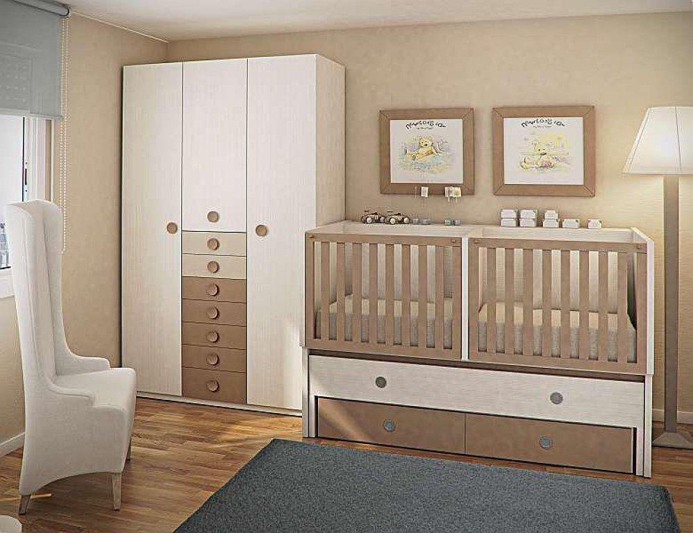 Las ideas de rodi deco dormitorio para beb s gemelos - Habitaciones para bebes gemelos ...