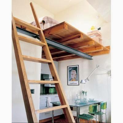 una pequea seleccin de escaleras de acceso a espacios creados las alturas existentes en los lofts