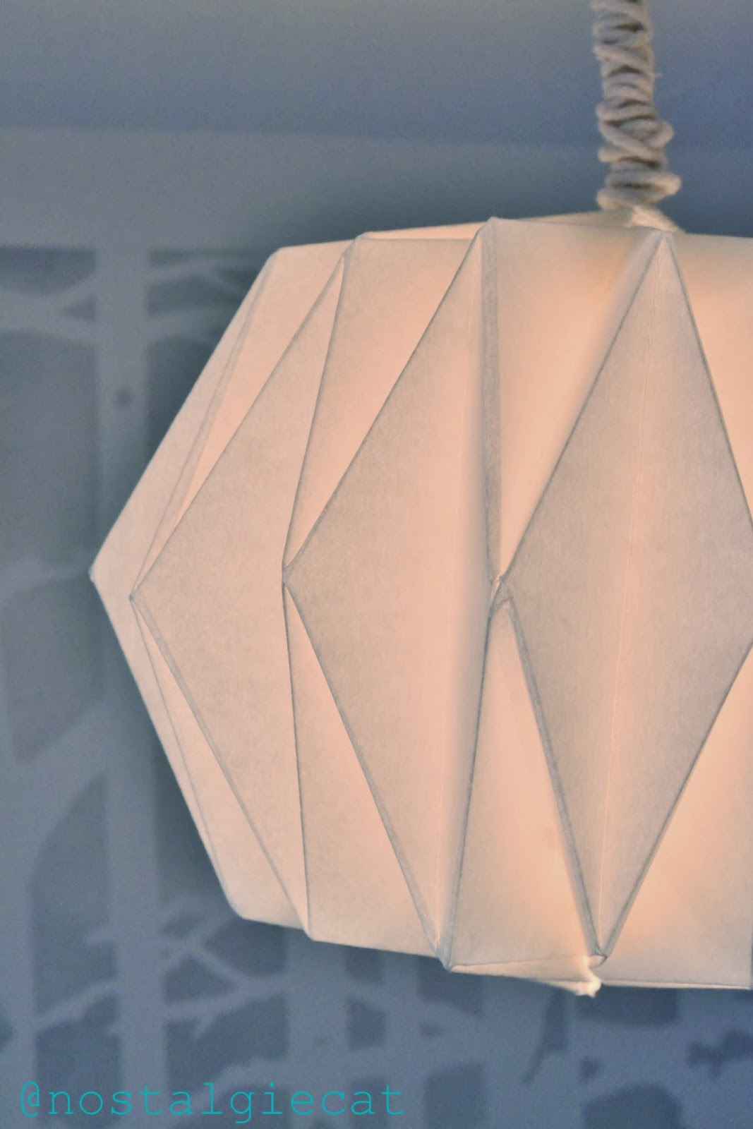 Nostalgiecat diy origami paper lampshade the second most important thing to consider when making an origami lampshade is the paper you use aloadofball Image collections