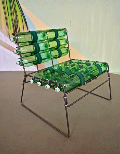 DIY bottle chair