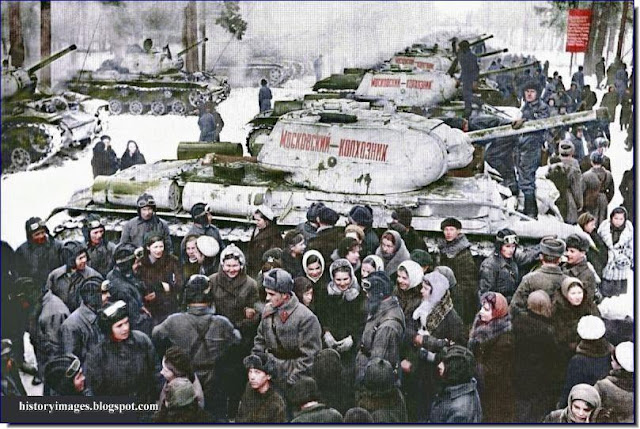 Russian  KV 1S tanks