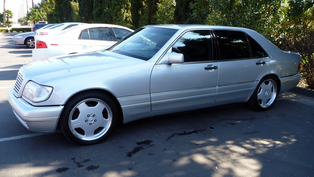 mercedes benz s600 w140 silver on amg rims 18inch benztuning. Black Bedroom Furniture Sets. Home Design Ideas