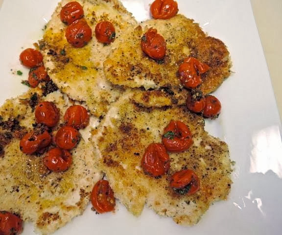 Flounder milanese with arugula and tomatoes - Cook and Post
