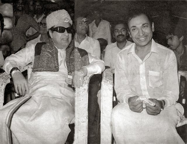 MGR with Kannada 'Super Star' Rajkumar