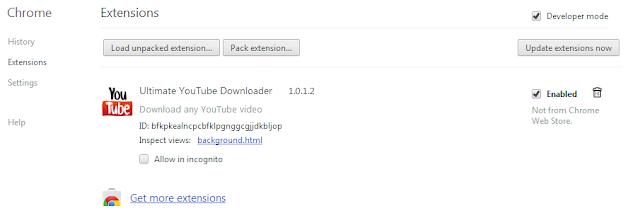 ดาวน์โหลดวีดีโอบน Chrome