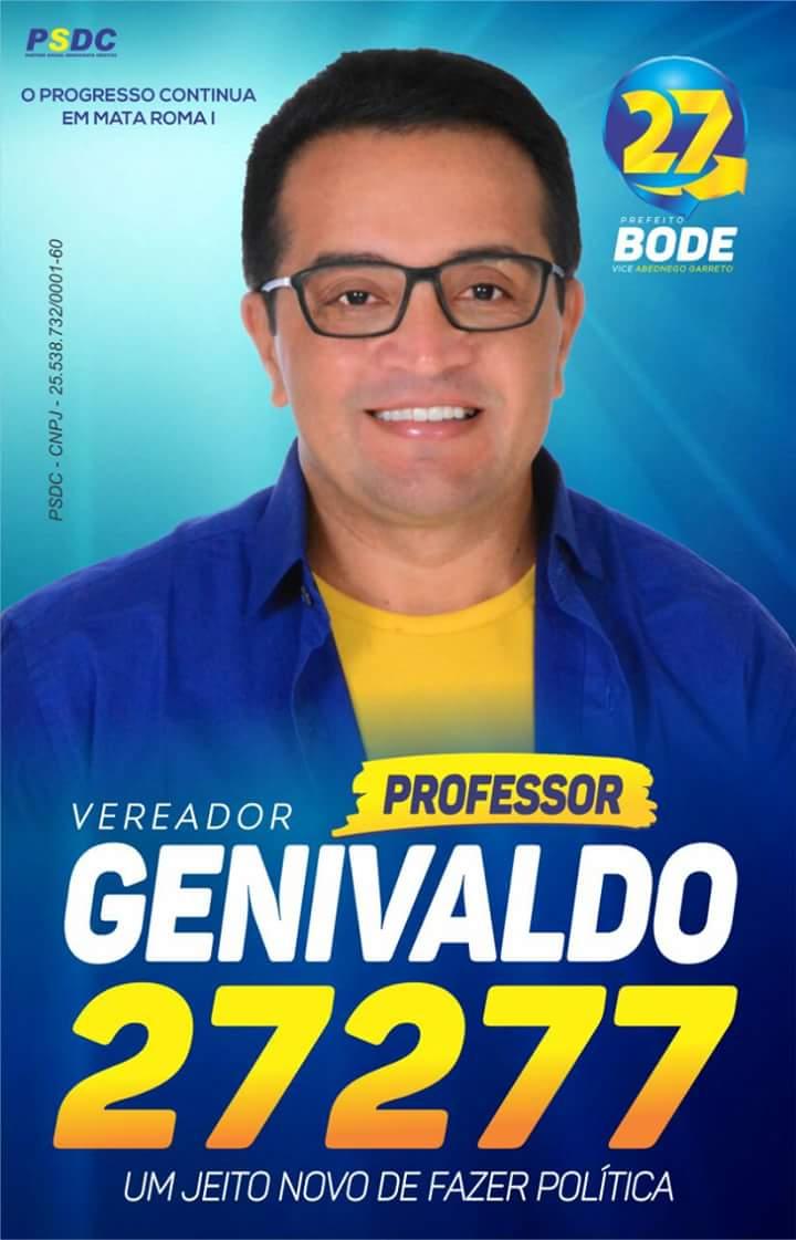 Para Vereador Professor Genivaldo