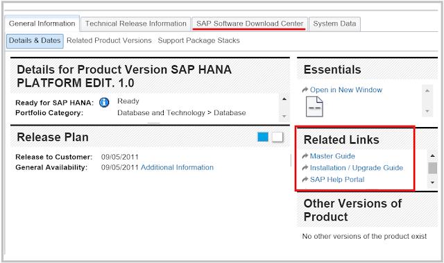 SAP HANA installation PAM link