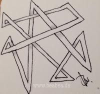 Zentangle-Muster. Tangle: Orkbee, Designer: Beate Winkler, CZT