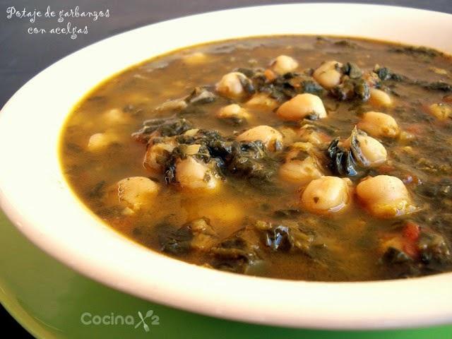 Cocinax2 las recetas de laurita resumen de recetas - Potaje de garbanzos y judias ...