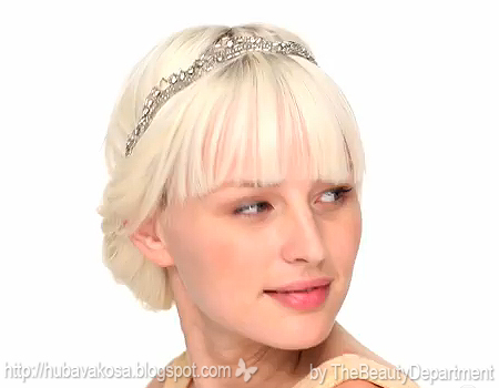 Вечерна прическа за булки и абитуриентки с коса до раменете