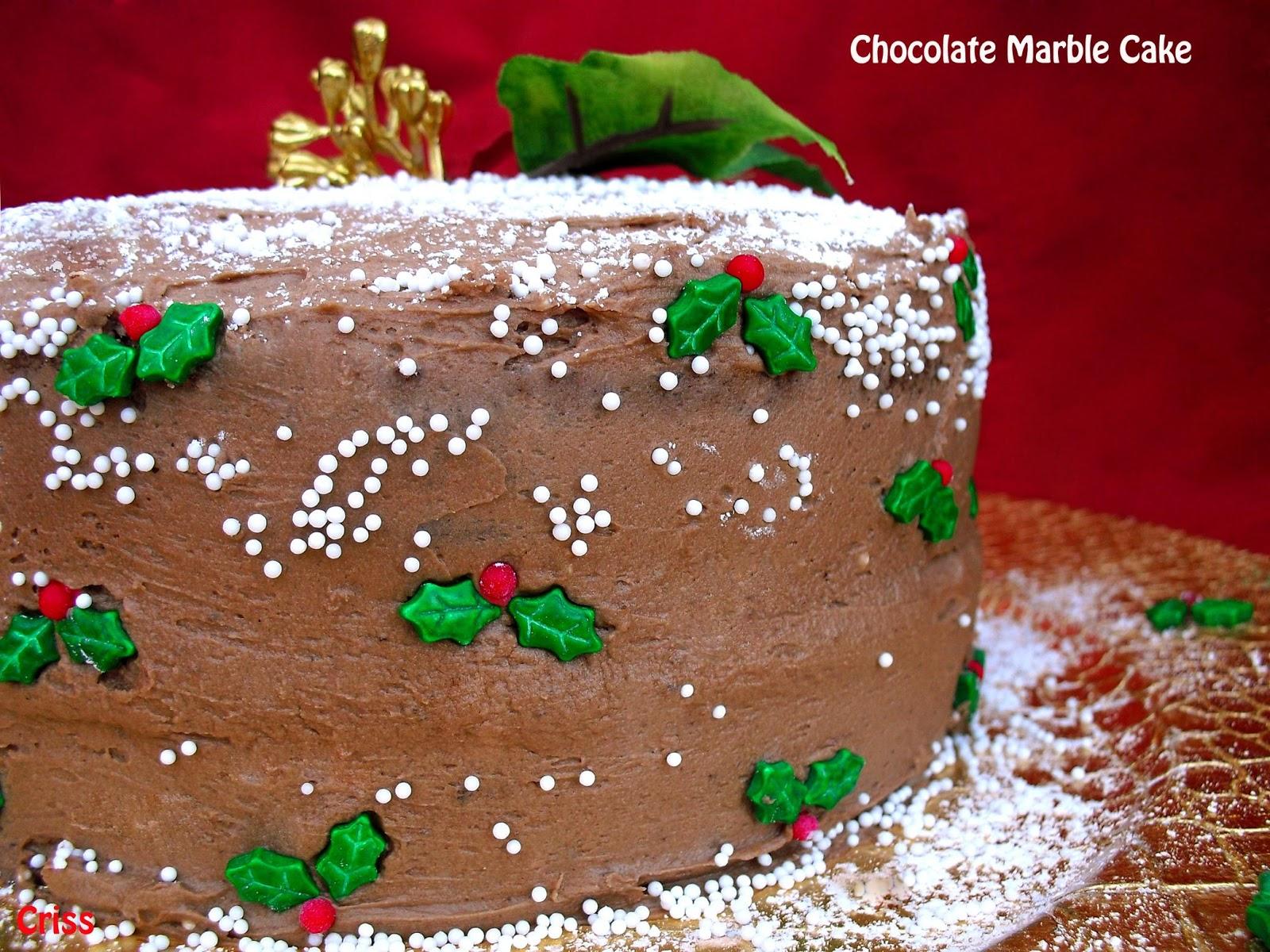 Chocolate Yema Cake