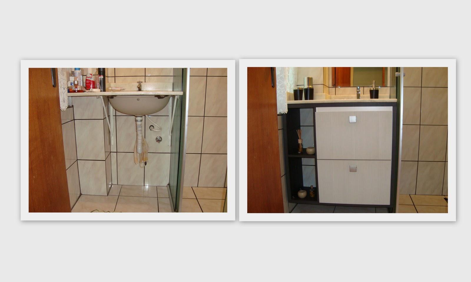 Feira Artesanato Em Ingles ~ Patrícia Zottis Armário banheiro antes e depois