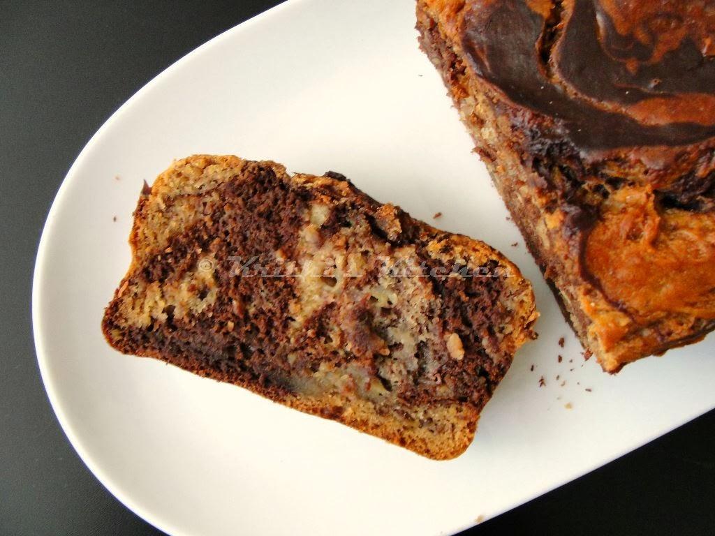 ... banana bread bread chocolate marble swirl banana marbled banana bread