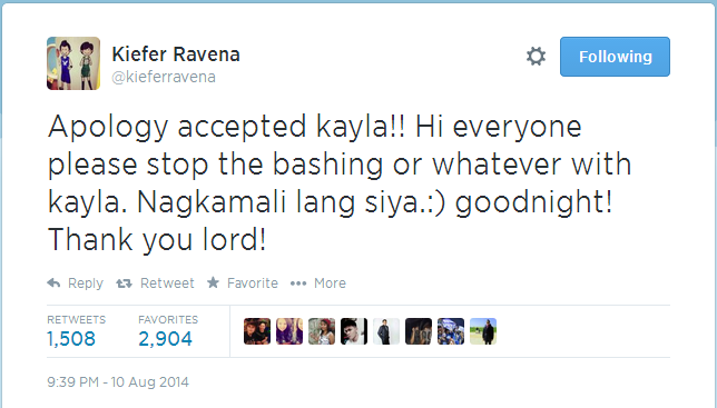 Kiefer Ravena accepts Kayla Leviste's Apology about Photo Showing Her 'Dirty Finger' with Him