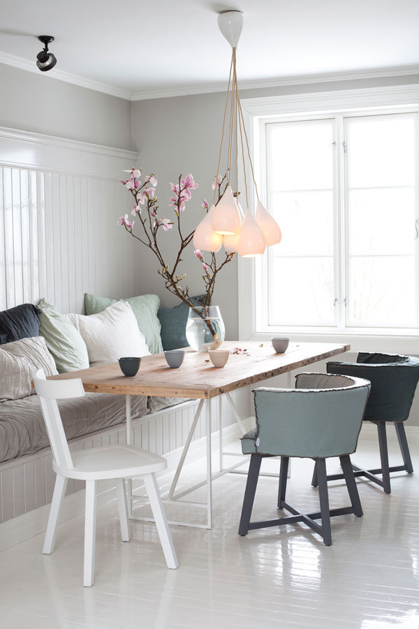 Country style chic white cosy scandi style for Dinette area ideas