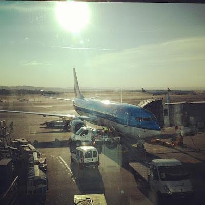 Avión KLM Madrid - Amsterdam // Aeropuerto de Barajas