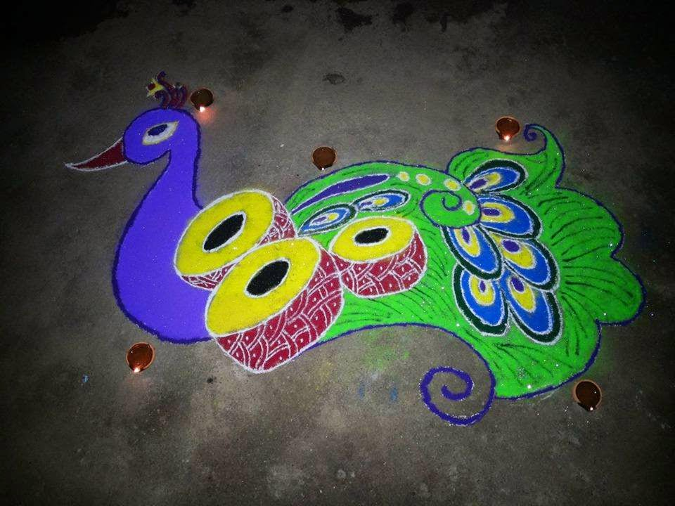 Easy Rangoli Designs 1