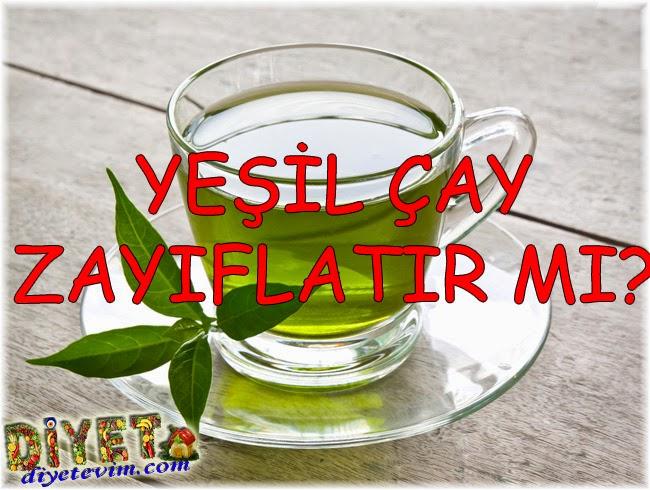 yeşil çay içerek zayıflama