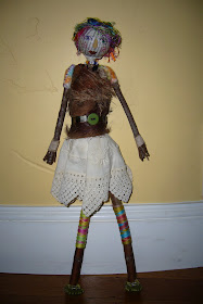 stick doll by Sally Medlicott, assemblage mixed media