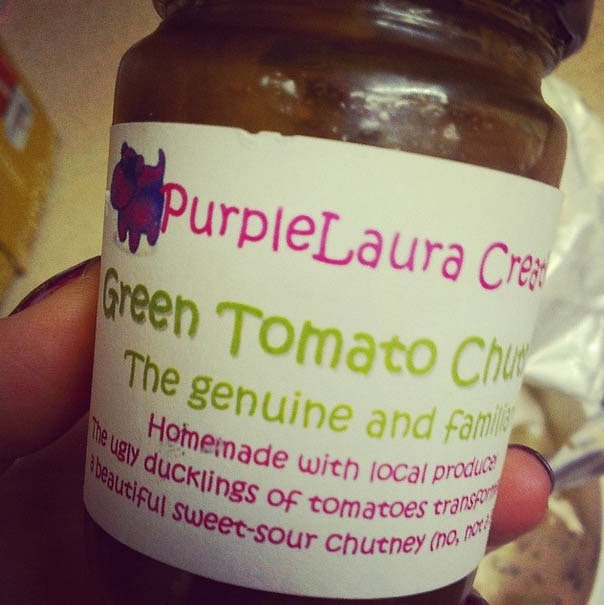 Purple Laura's Creations Green Tomato Chutney