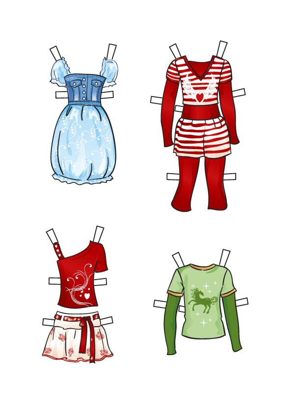 Как нарисовать одежду для бумажней кукле