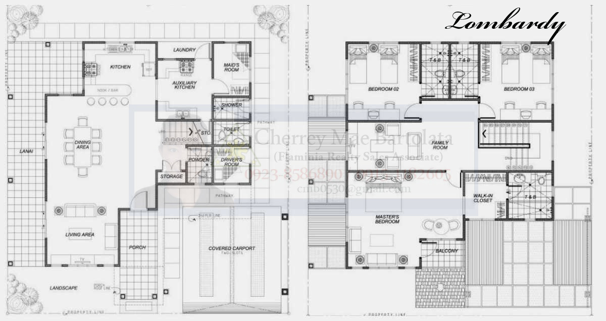 Two storey house floor plans philippines house design plans for 2 floor building plan