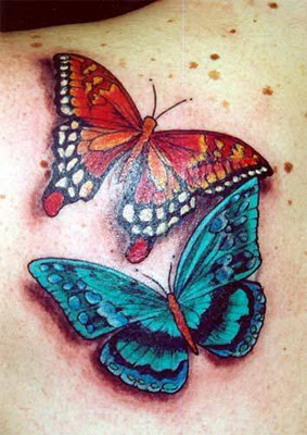 tattoo designs 7 back shoulder left butterfly tattoos