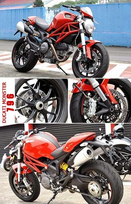 Perbedaan Ducati Monster 795 & Ducati Monster 796