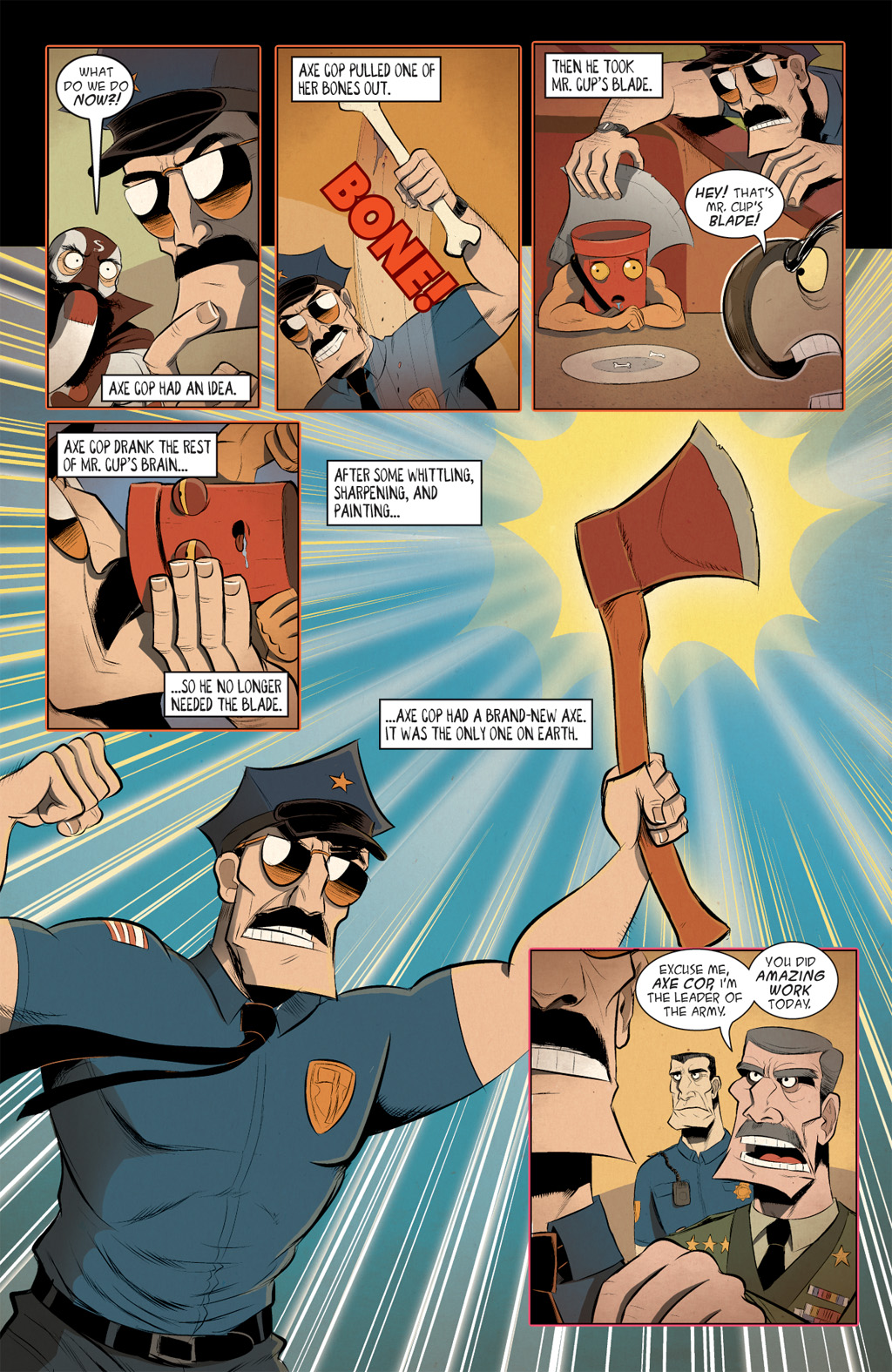 Read online Axe Cop: Bad Guy Earth comic -  Issue #3 - 24