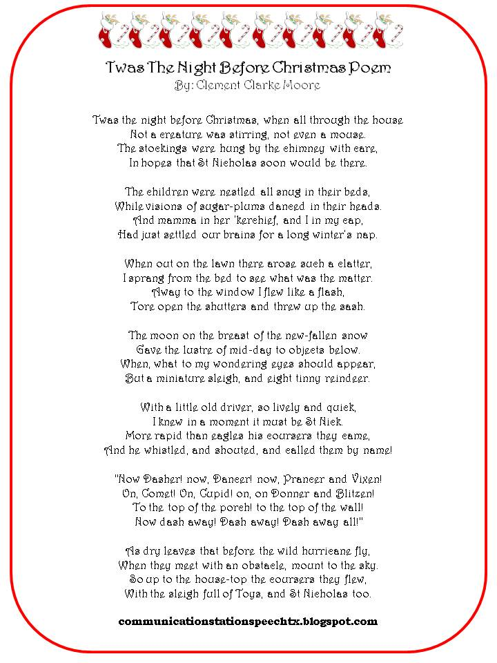 night before christmas poem - Twas The Night Before Christmas Decorating Ideas