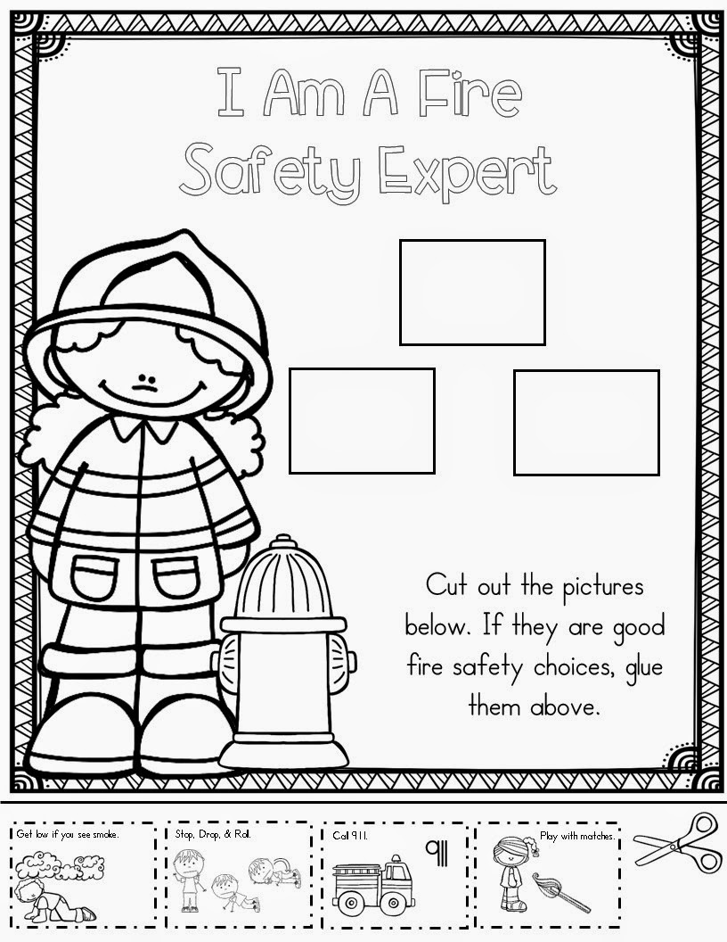 Worksheets Fire Safety Worksheets whos who and new fire safety week