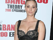 Kaley Cuoco hot cleavage in black dress