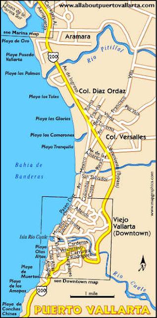 Mapa de Puerto Vallarta Político Región