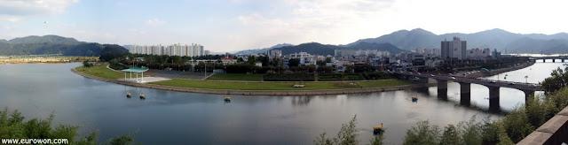 Vista desde el monte Adongsan de Miryang