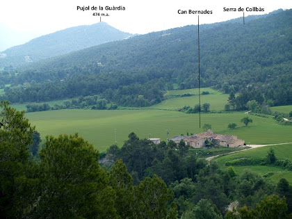 Les Planes de Can Bernades de de la Serra de Santa Margarida de Montbui